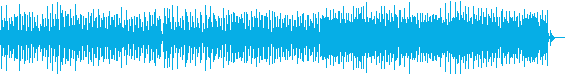 レトロゲーム風のかわいいBGMの再生済みの波形