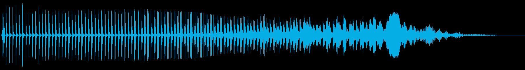 厳しいパワーバズスイープの再生済みの波形