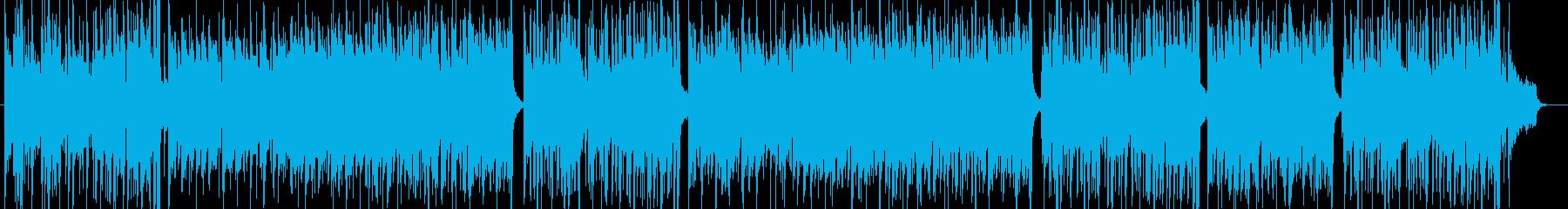 軽快で爽やかな明るい曲の再生済みの波形