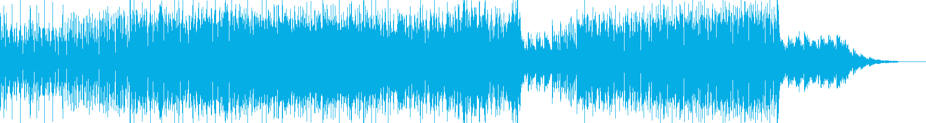 future bass風ポップの曲の再生済みの波形