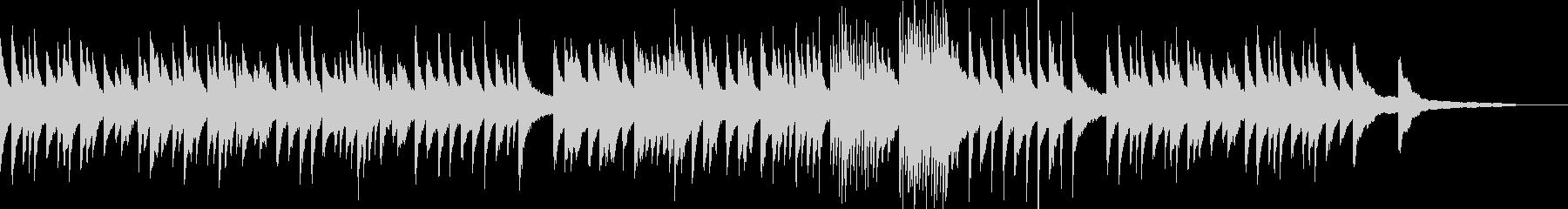 4分の3拍子の落ち着いたピアノバラードの未再生の波形