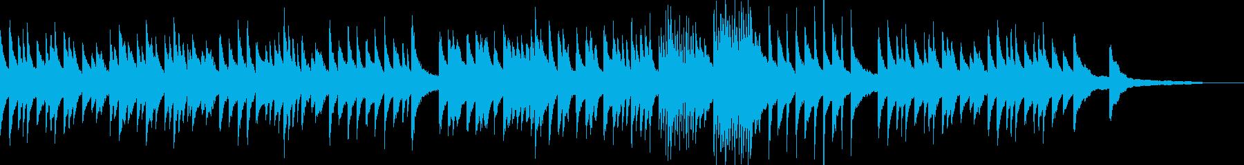 4分の3拍子の落ち着いたピアノバラードの再生済みの波形