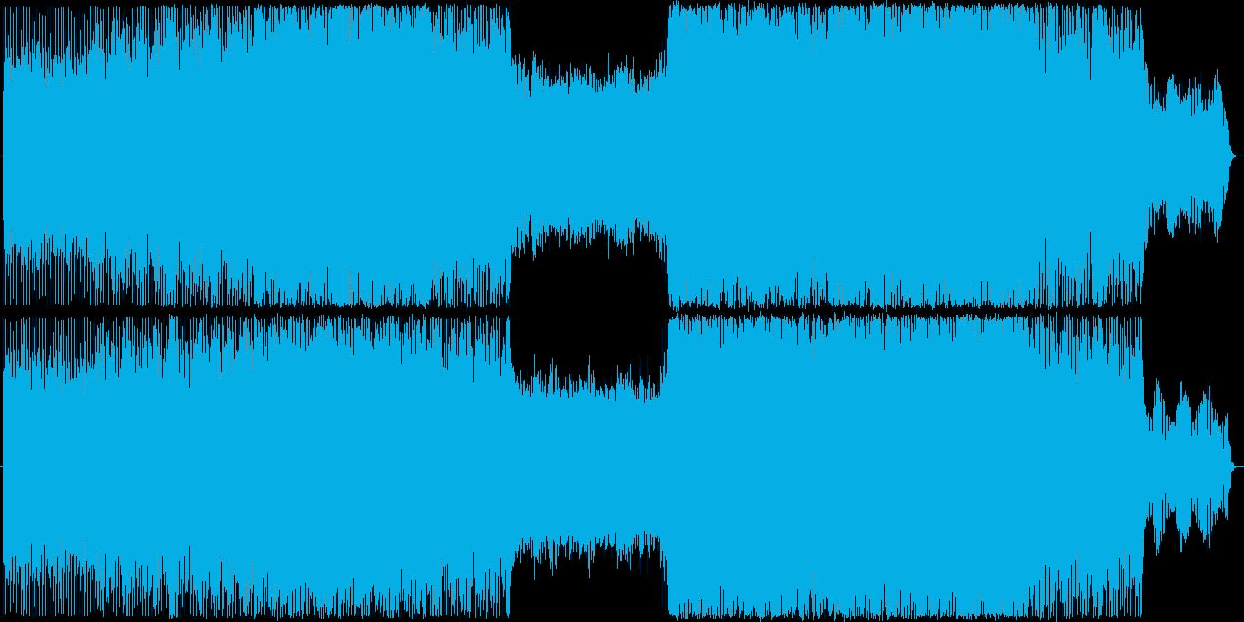 やや暗めのテクノ、ハウスの再生済みの波形