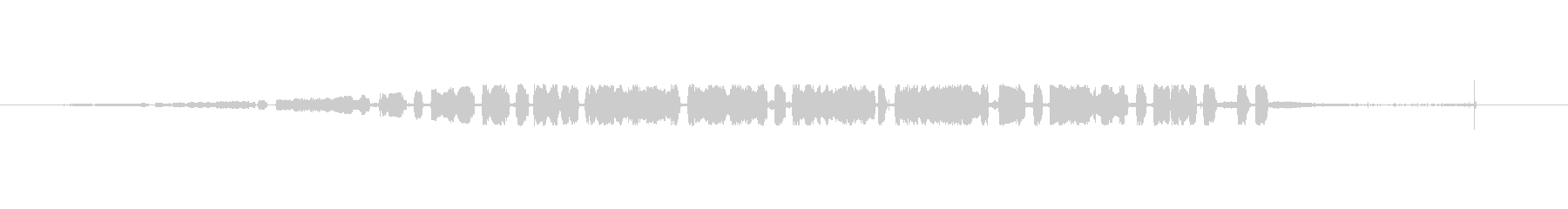 サーカス音楽の奇妙な小さな断片。の未再生の波形