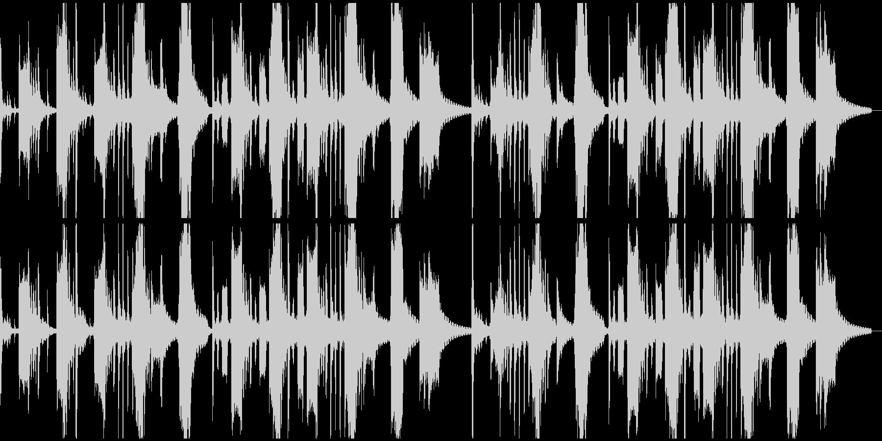 コミカルで軽快な不思議系BGMの未再生の波形