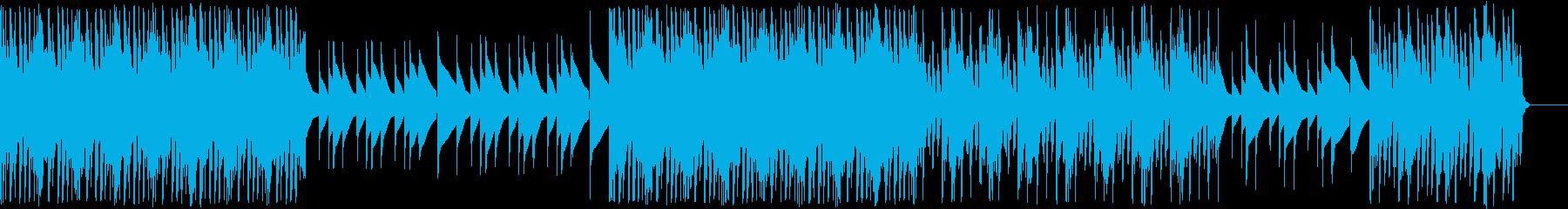 モヤモヤとした不安な気持ちを演出する音楽の再生済みの波形