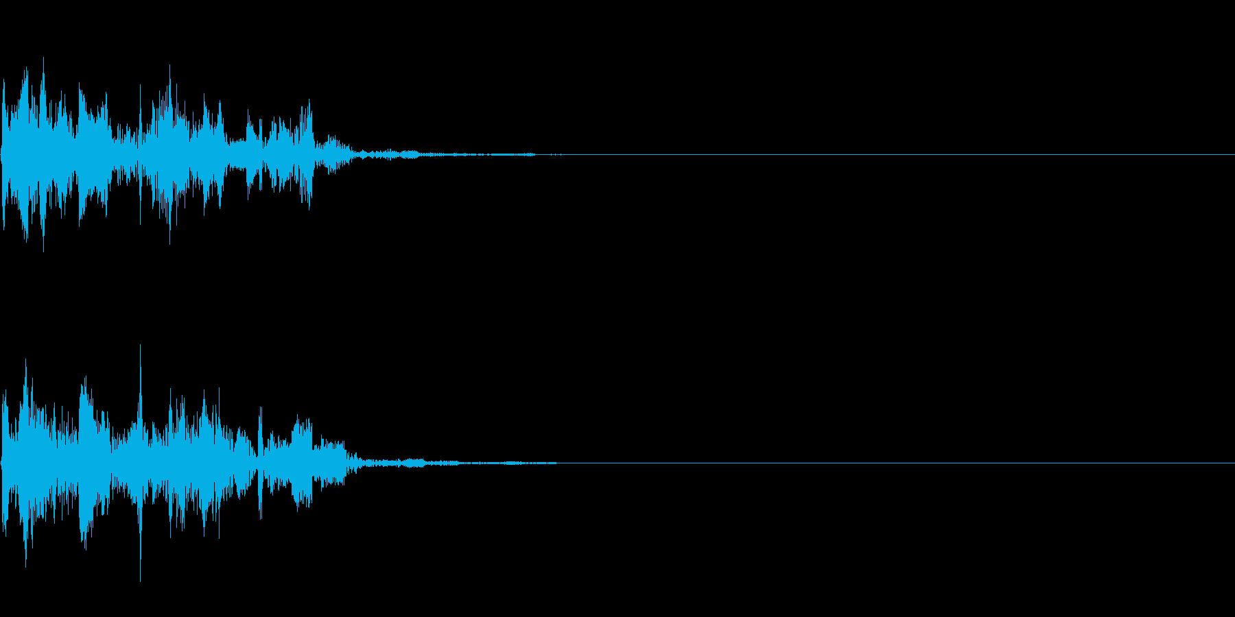 パズルゲームのブロック消す音・ポキュポンの再生済みの波形