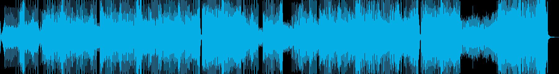 ユニークシンセのエクササイズテクノポップの再生済みの波形