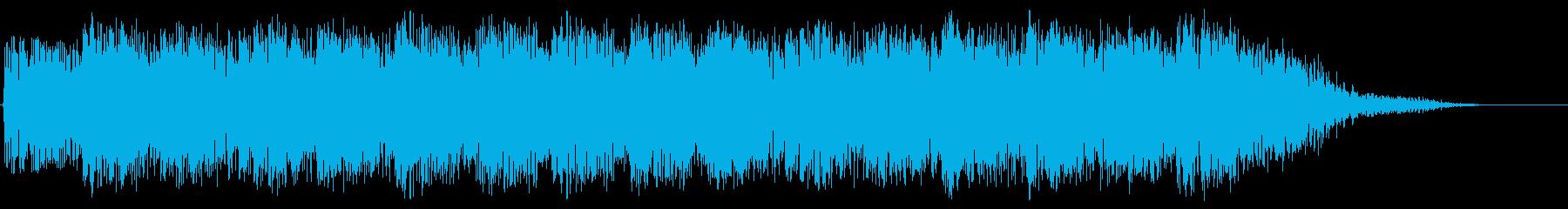 パンチの高速連打のイメージ(短め)の再生済みの波形