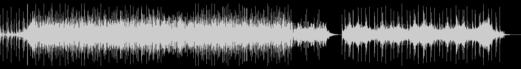 ディープなビートとハードなシンセベースの未再生の波形
