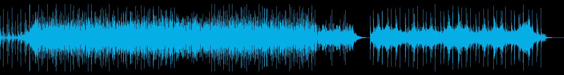 ディープなビートとハードなシンセベースの再生済みの波形