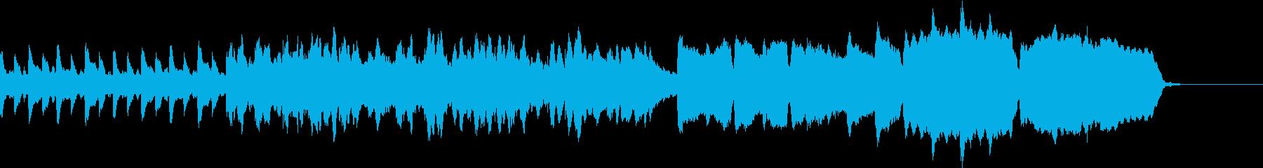 ホルンとトランペットのファンファーレの再生済みの波形