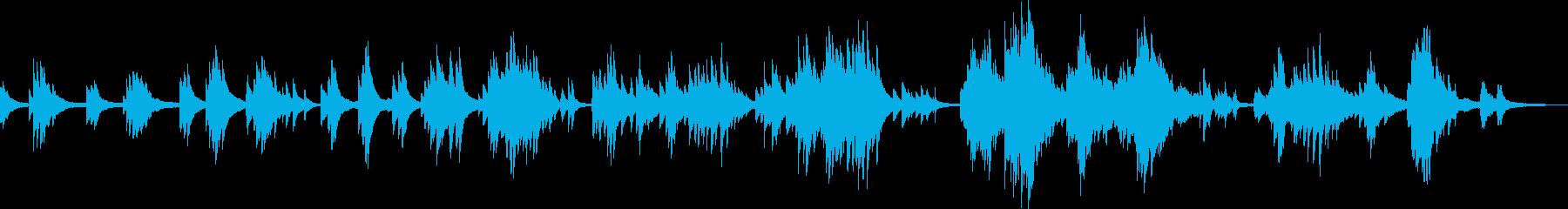 語りかけるような優しいピアノソロ曲の再生済みの波形