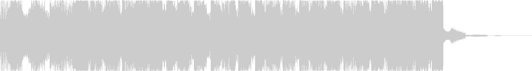 チルアウトクールなトロピカルハウスdの未再生の波形