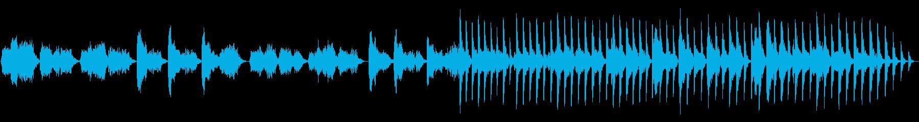 ソロの本格的なパイプを備えたネイテ...の再生済みの波形