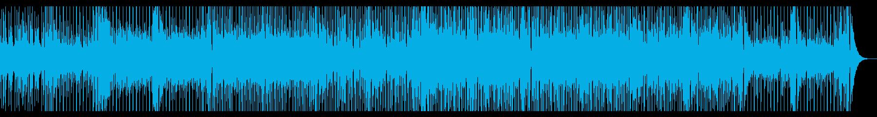 明るくてユーモラスな感じの曲の再生済みの波形