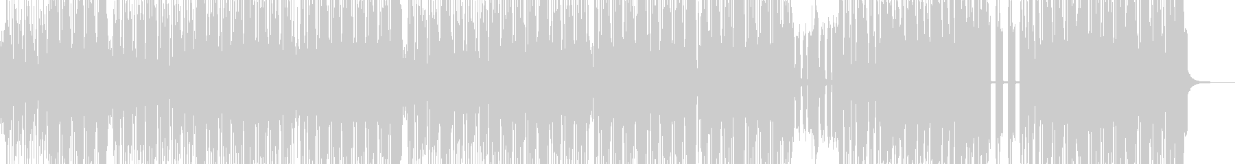 太いシンセのマッチョなヒップホップの未再生の波形