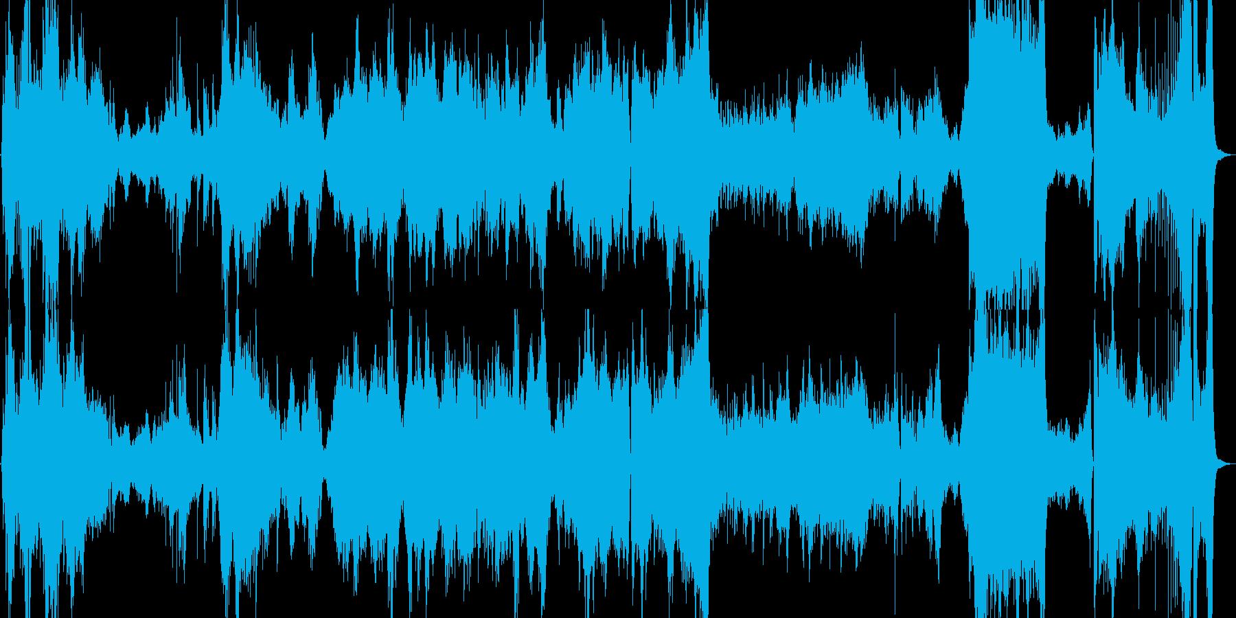 和楽器とオーケストラ楽器を融合させた曲の再生済みの波形
