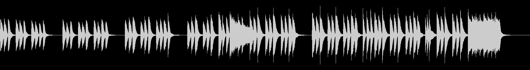 キッズ/ペット ほのぼのカワイイピアノ曲の未再生の波形