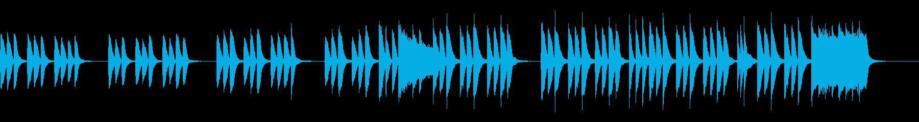 キッズ/ペット ほのぼのカワイイピアノ曲の再生済みの波形