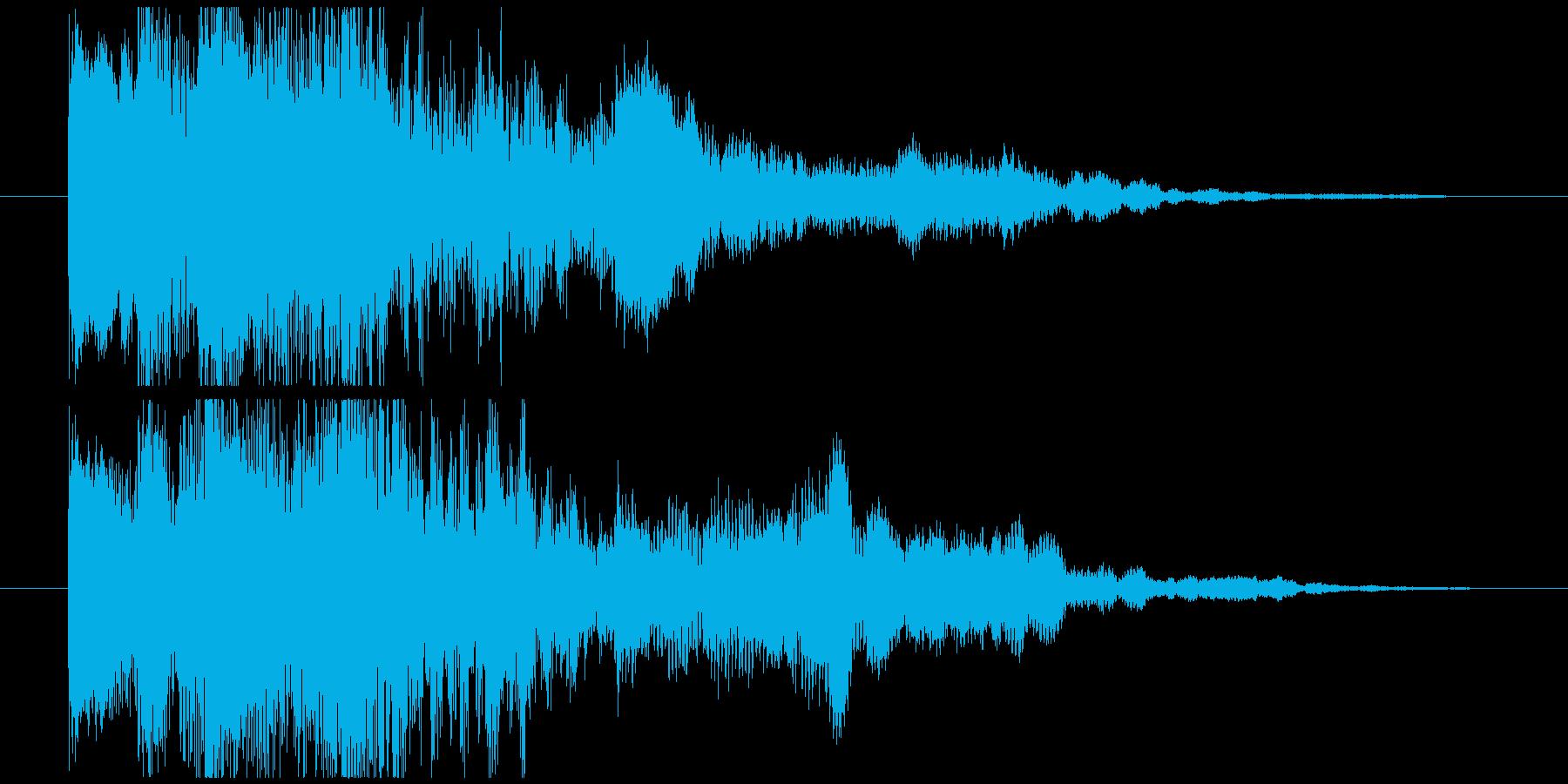 ダイナミックなサウンドロゴの再生済みの波形