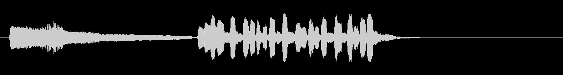 テーマ6B:ピアノ、トランペットの未再生の波形