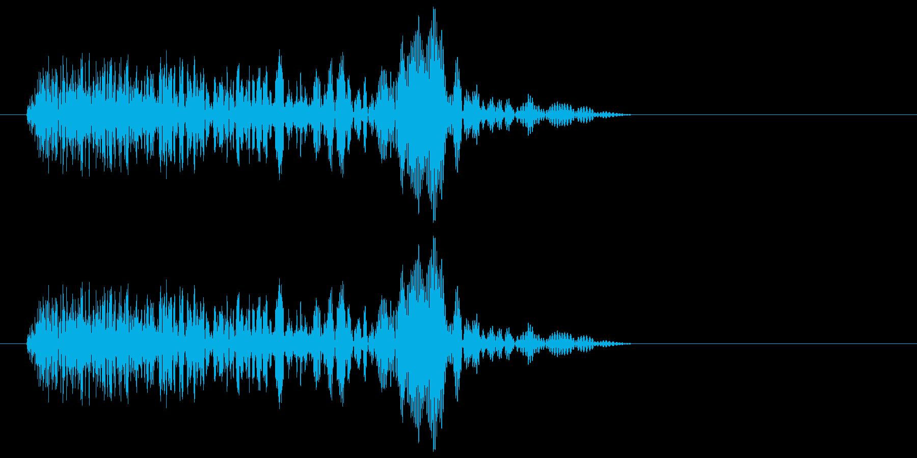 ピュンッ!短めの風切り電子の効果音の再生済みの波形