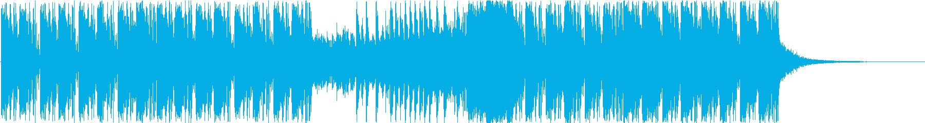 青をイメージしたアンビエントの再生済みの波形