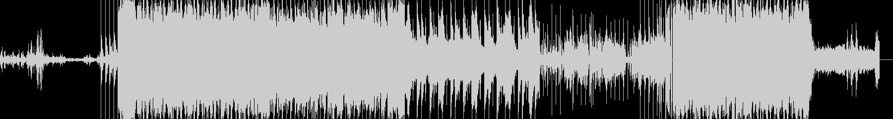 攻撃的なインダストリアルロックですの未再生の波形