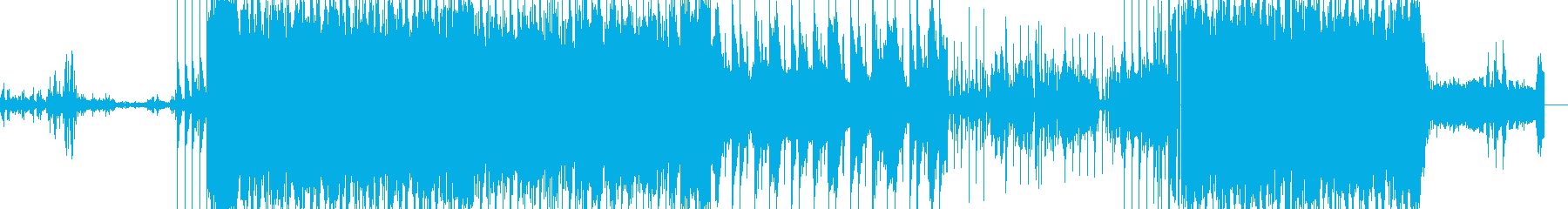 攻撃的なインダストリアルロックですの再生済みの波形