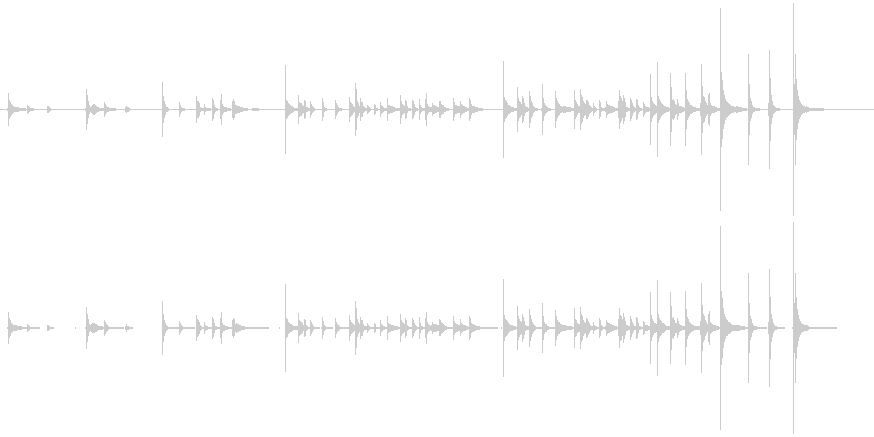 三味線レッスンの未再生の波形