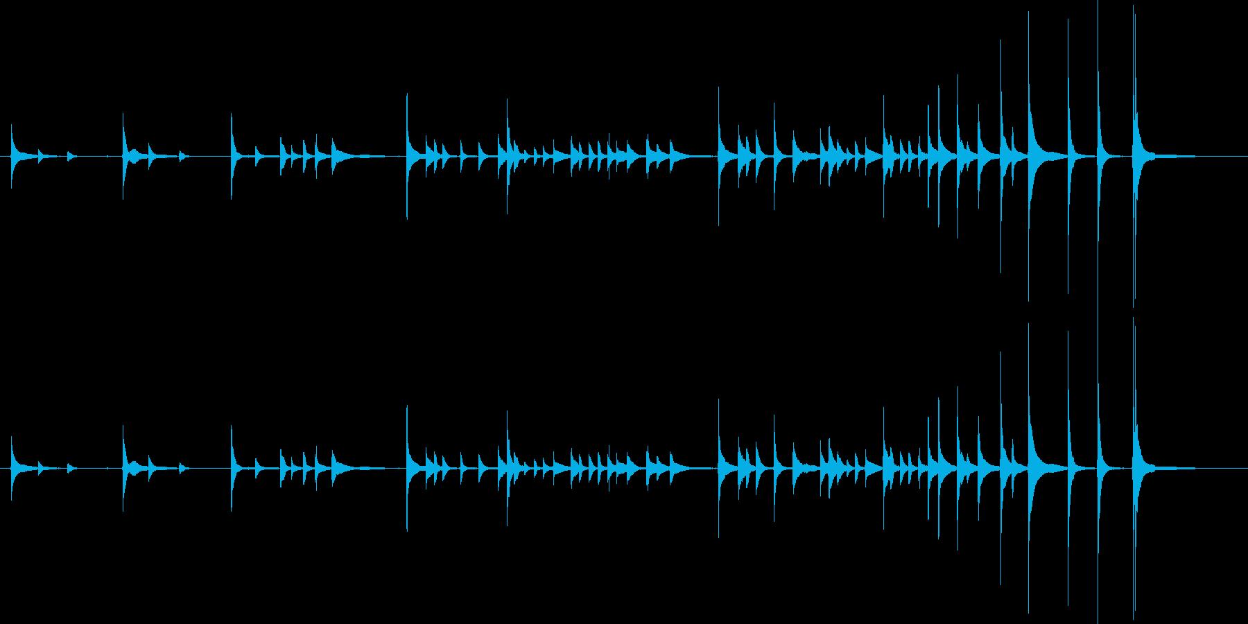 三味線レッスンの再生済みの波形
