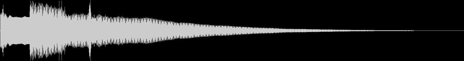 クイズ正解ピンポンピンポーンベルの未再生の波形