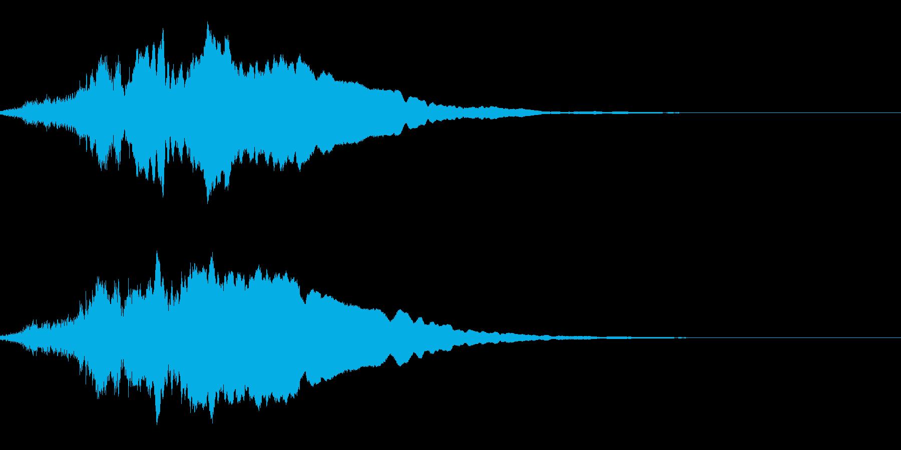 ピューンと逃げるの再生済みの波形