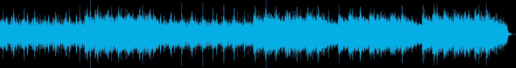 キレイな旋律のリラクゼーション曲の再生済みの波形