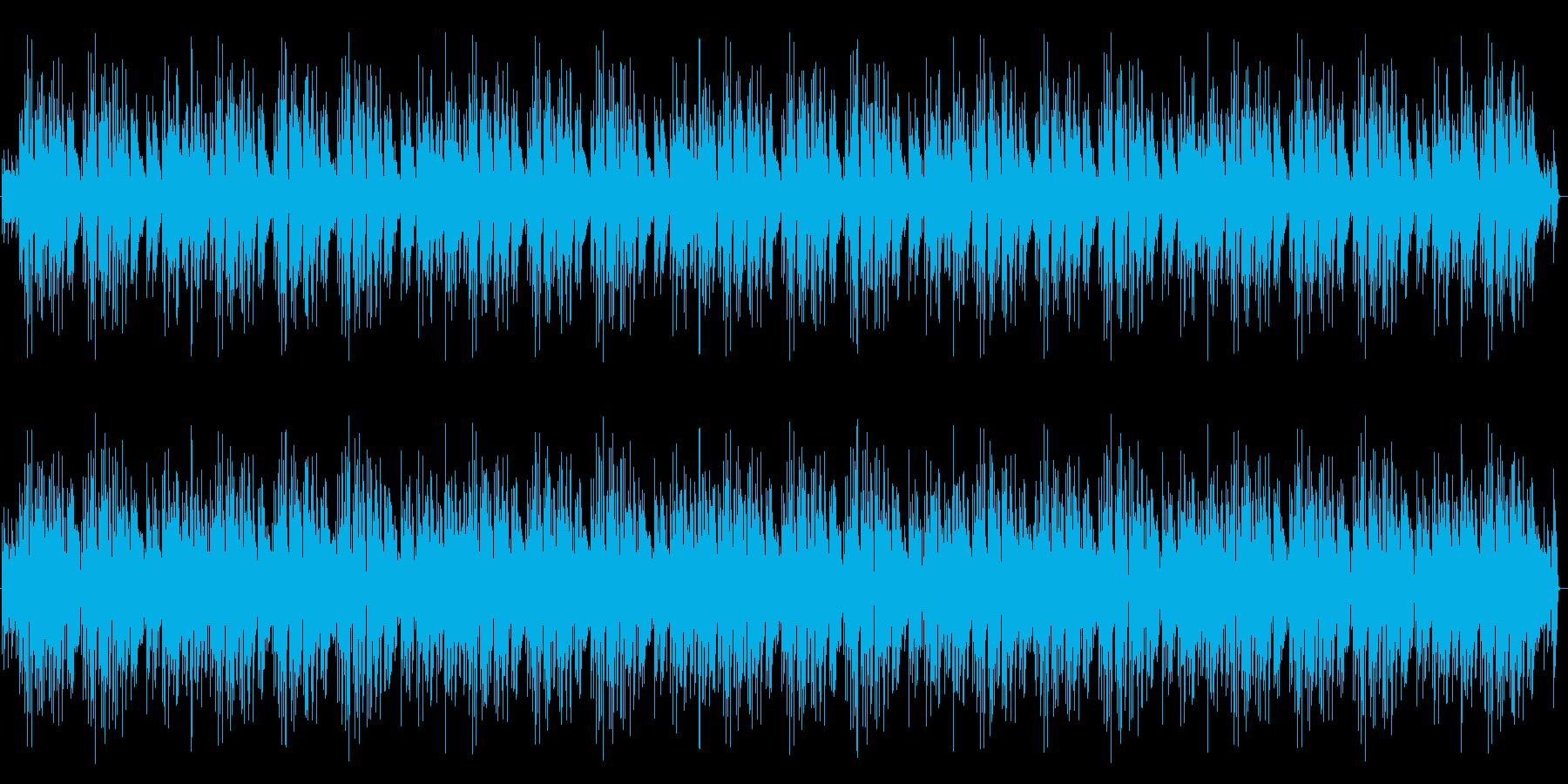陽気で明るいリズミカルなピアノBGMの再生済みの波形