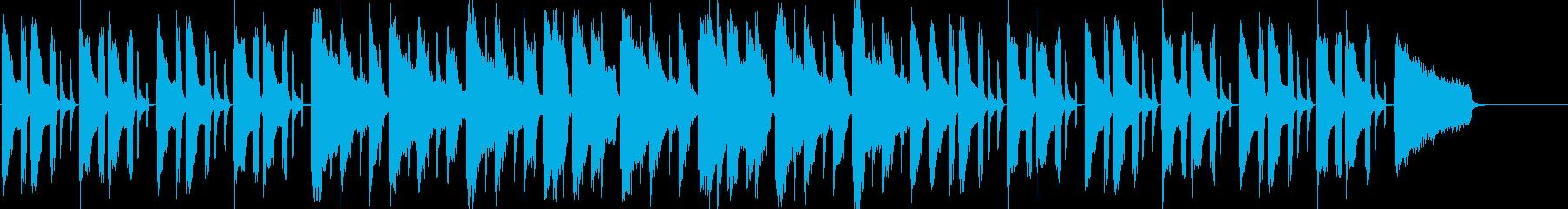 ポップなボサのんの再生済みの波形
