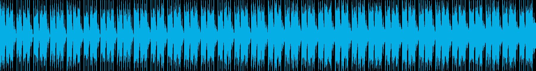 明るいポジティブなエレクトロBGM、SLの再生済みの波形