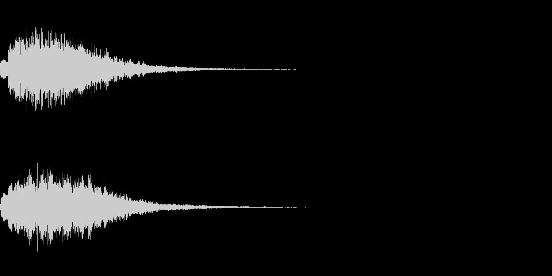 「タラララ・キラーン」すてき・場面転換の未再生の波形