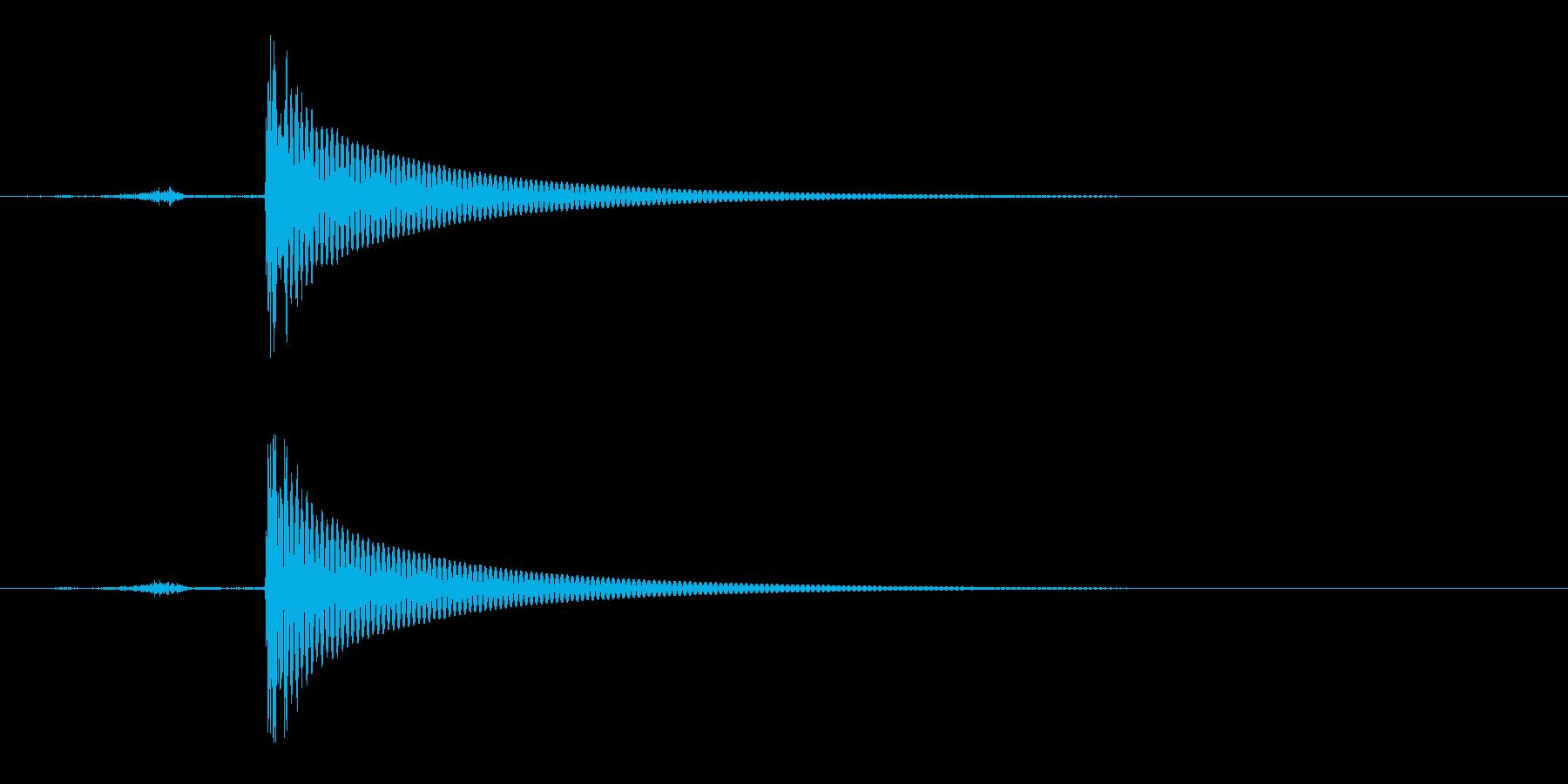 ワインボトルを開ける音(音程真ん中)の再生済みの波形