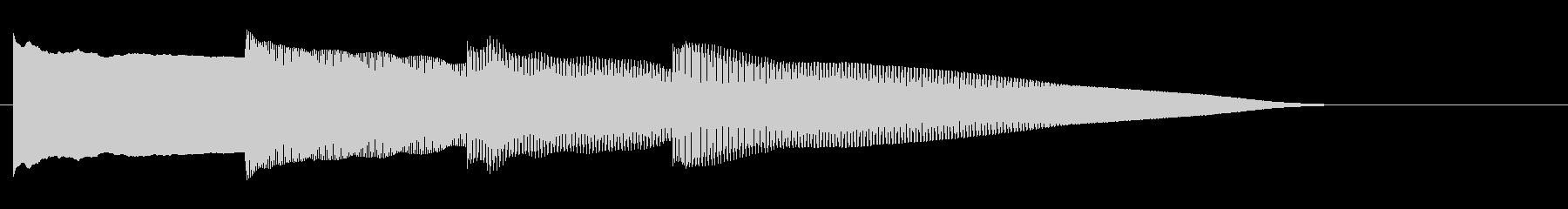 アナウンス後 チャイム-2_dryの未再生の波形