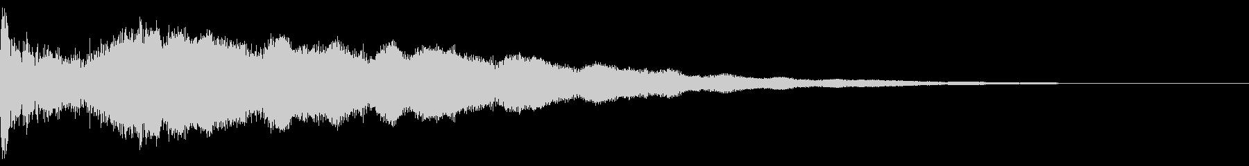 カットイン スピード ワープの未再生の波形