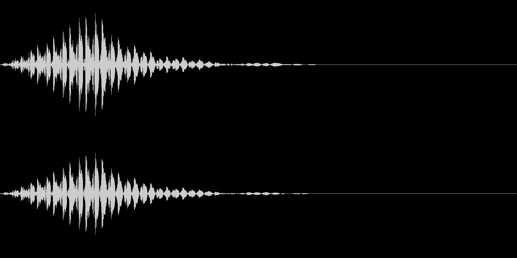 ブッ(不正解/エラー/不可)の未再生の波形