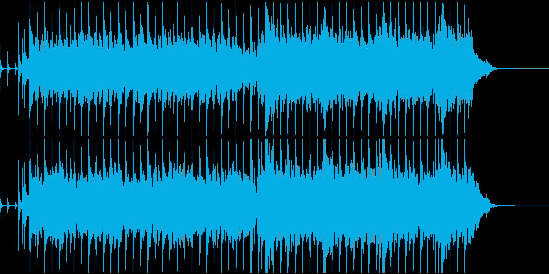 エンディングで流れそうなテーマの再生済みの波形