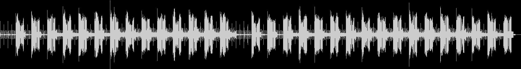 シンセベースのSF風サウンドの未再生の波形