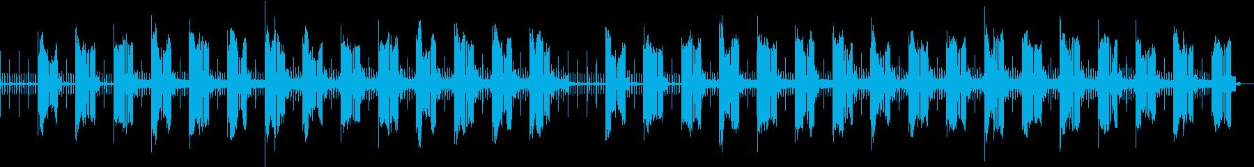 シンセベースのSF風サウンドの再生済みの波形