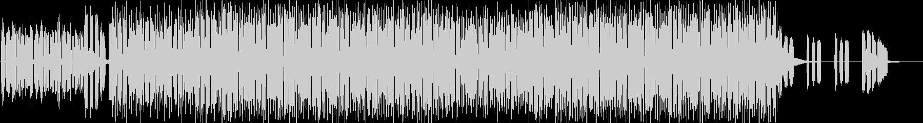 おしゃれなハウスミュージックの未再生の波形
