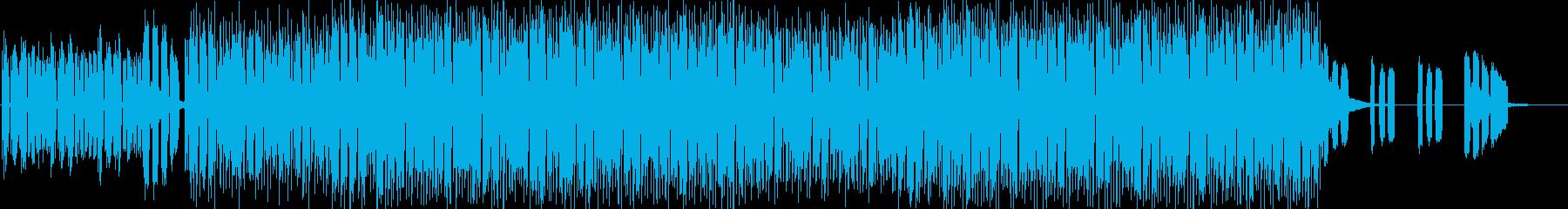 おしゃれなハウスミュージックの再生済みの波形