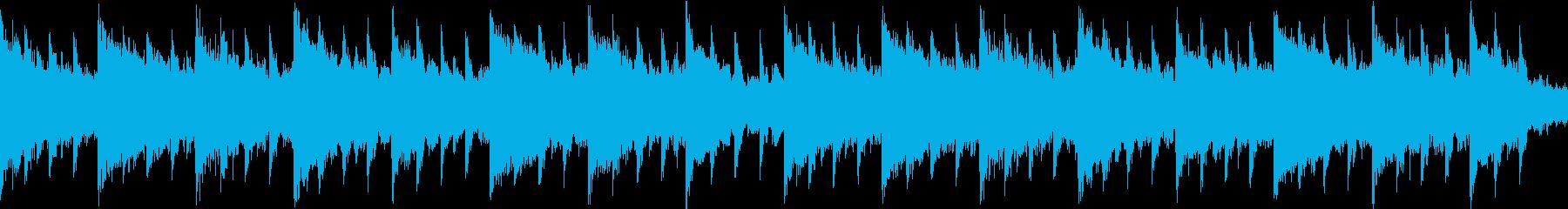 キラキラかわいいベルピアノバラードの再生済みの波形