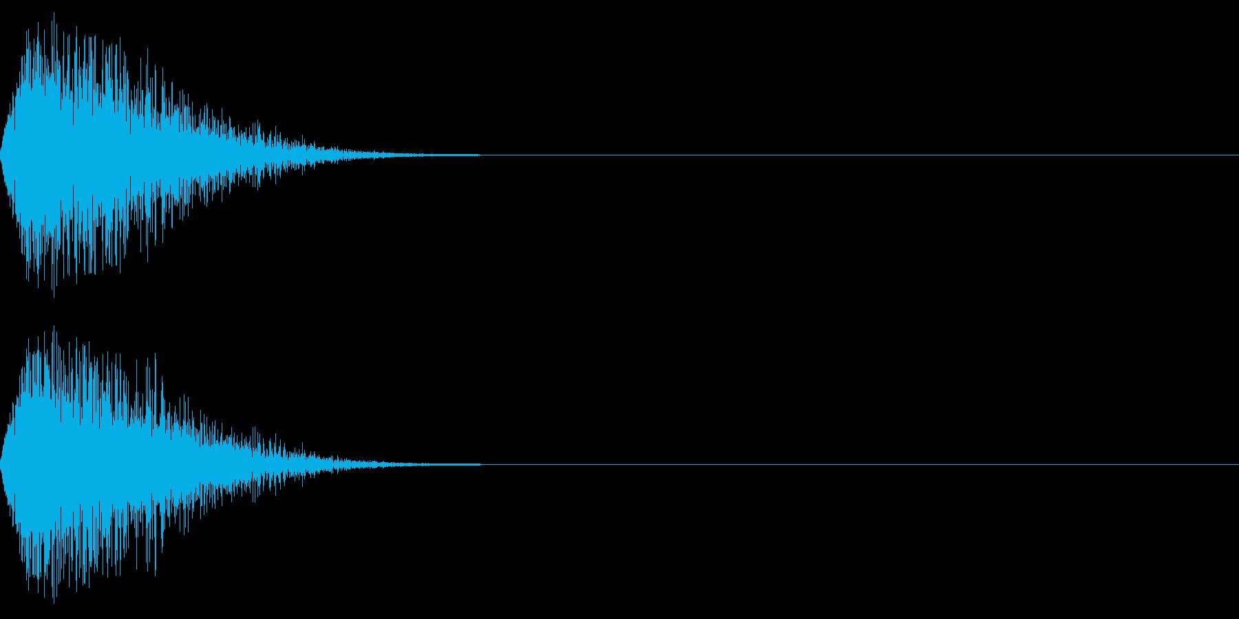 DTM Snare 14 オリジナル音源の再生済みの波形